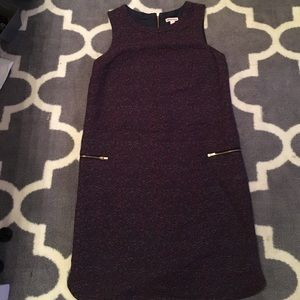 Vintage inspired tweed shift dress with pockets
