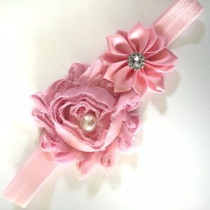 Other - 5 for 20 Pink Satin Flower Headband