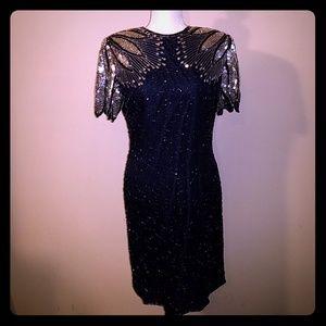 Laurence Kazar Vintage Sequined Evening Dress