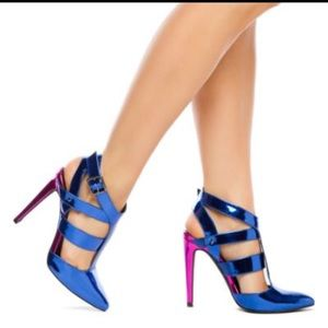 Shoes - 💗💜💙 Pink and blue/purple heels💙💜💗