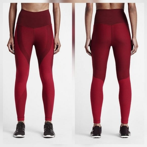 9c98374cbdb3 Nike Zoned Sculpt Power Tights Pants Red