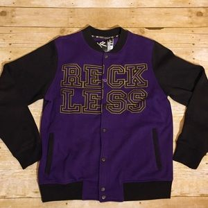 Young & Reckless Other - Young Reckless Y&R Fleece Varsity Logo Jacket L