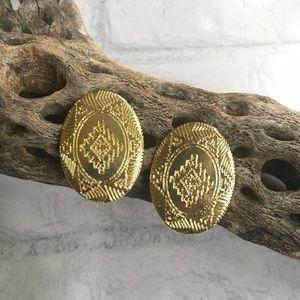 Gold western earrings