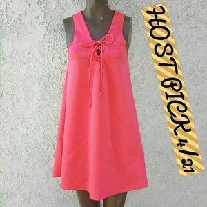 Free Press  Dresses & Skirts - HOST PICK Hot Pink Tank Dress (NWT)