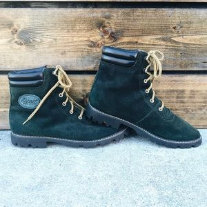 Vintage Shoes - Vintage Esprit Suede Hiking Boots