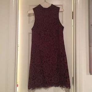 She and Sky Dresses & Skirts - Burgundy Lace Dress
