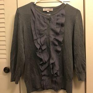 Ann Taylor Sweaters - Gray Ann Taylor Loft Cardigan