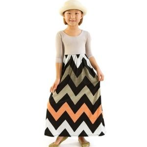 Other - Little Girl's Chevron Print Maxi Dress