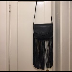 BCBGeneration Black Fringe Purse