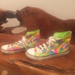 Rocket Dog Shoes - RARE Neon High tops by Rocket Dog Size 7