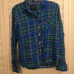 American Eagle Blue Flannel
