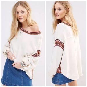 Free People Trudy Pullover Sweatshirt
