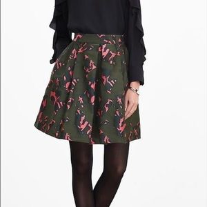  Banana Republic Print Circle Skirt