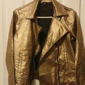 Hope and Harvest Jackets & Blazers - Mettalic Gold Jacket