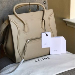Celine Handbags - Céline Med Phantom Luggage Beige Supple Calfskin