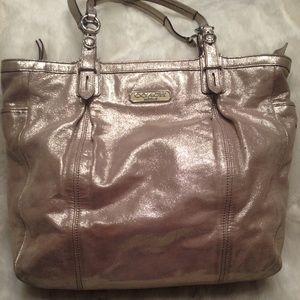 Coach Handbags - LARGE COACH Metallic Tote