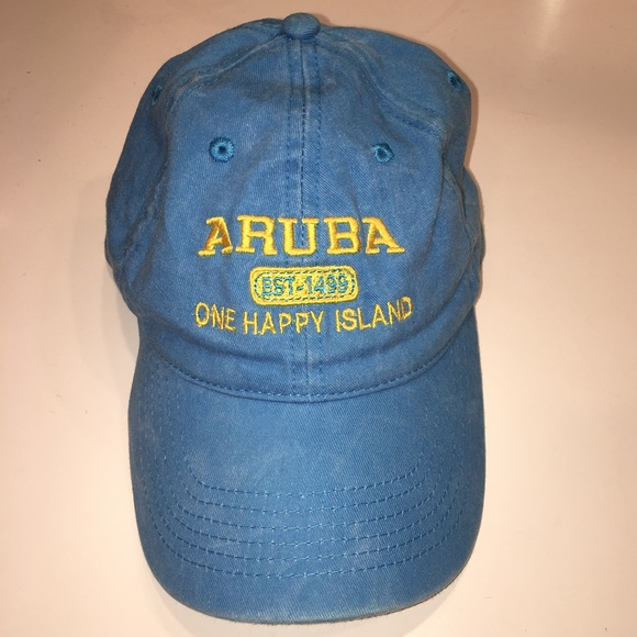 7cb633e9 Accessories | Euc Aruba Blue Hat Cap Yellow Baseball Dad | Poshmark