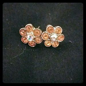 *Peachy Flower Earrings*