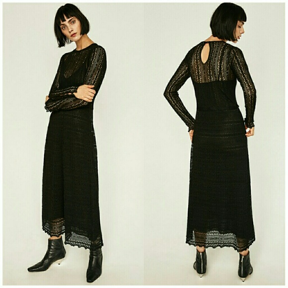 5f88c77dcc2b Zara Dresses | Limited Edition Black Knit Dress | Poshmark