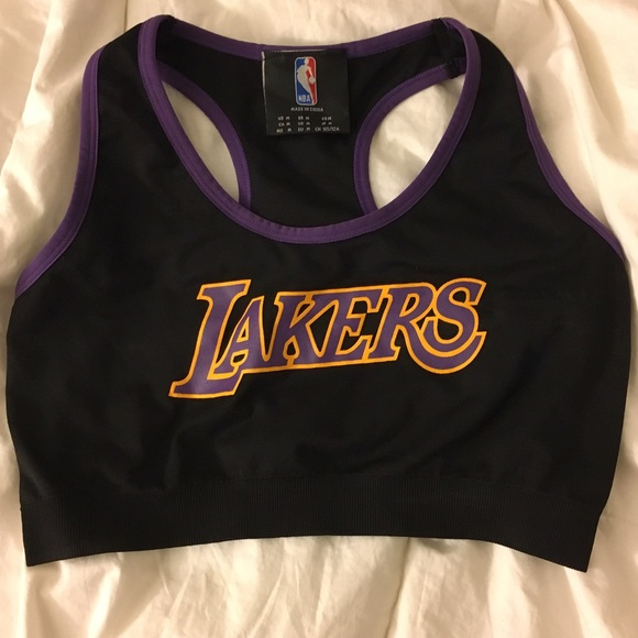 ae14a15610a Lakers jersey crop top sports bra style. M_58a697b836d59416420a44f4