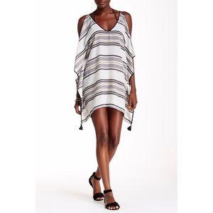 Love Stitch Dresses & Skirts - Love Stitch Cold Shoulder Tassel Cover-Up