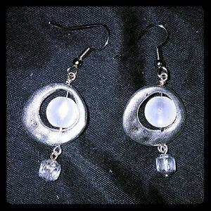 Jewelry - *Beautiful Silver and Sea Glass Earrings*