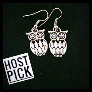 HP! *Silver Owl Earrings!*