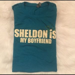 next level Tops - Sheldon is my Boyfriend Tee