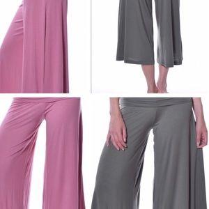 Pastels Clothing Pants - WideLegCapris
