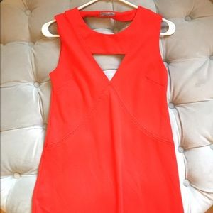 Zara Collection Red Cut Out Dress! EUC!