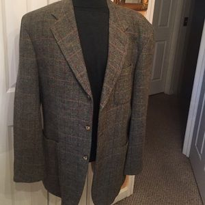 Luciano Barbera Other - Luciano Barbera wool/tweed Sz 42 green double vent