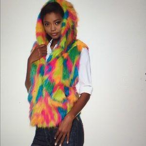 """Adrienne Landau Jackets & Blazers - A by Adrienne Landau """"Trolls"""" Faux Fur Vest"""