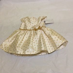 Carter's Just One Other - New With Tags Gold/Cream polka dot dress by Caters