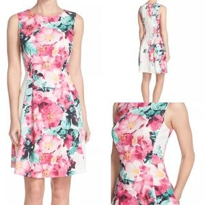 Vince Camuto Dresses & Skirts - Vince Camuto Pink Green Floral Dress NWT 6 10