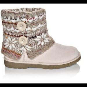 MAKALU Kayla Winter White Ankle Boots