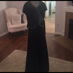 J Kara Dresses & Skirts - J Kara new never worn navy beaded formal gown 14p