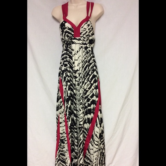 Express - NWOT EPRESS ZEBRA /PINK MAXI DRESS SIZE SMALL from ...