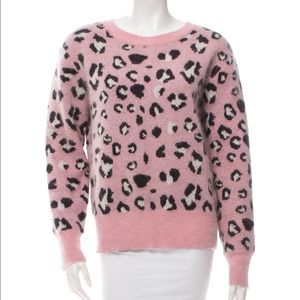 Chloe Sevingy for Opening Ceremony Sweaters - Chloe sevigny pink leopard angora sweater