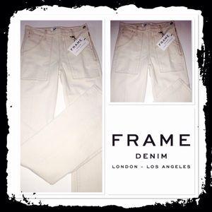 Frame Denim - NWT Frame off white colored jeans