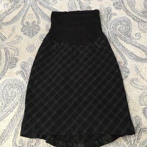 Motherhood Maternity Dresses & Skirts - Black Maternity Skirt