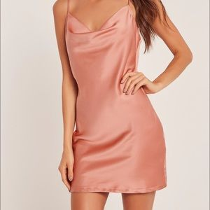 Missguided Silky Cowl Front Cami Dress