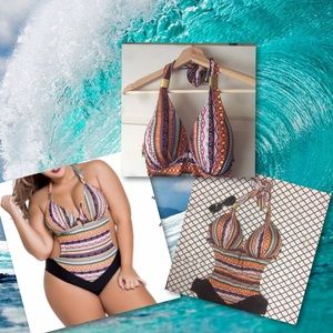 Other - *New* Multi color swimsuit plus