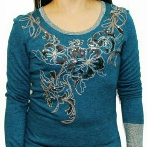 Miss Me Floral Scroll Blouse