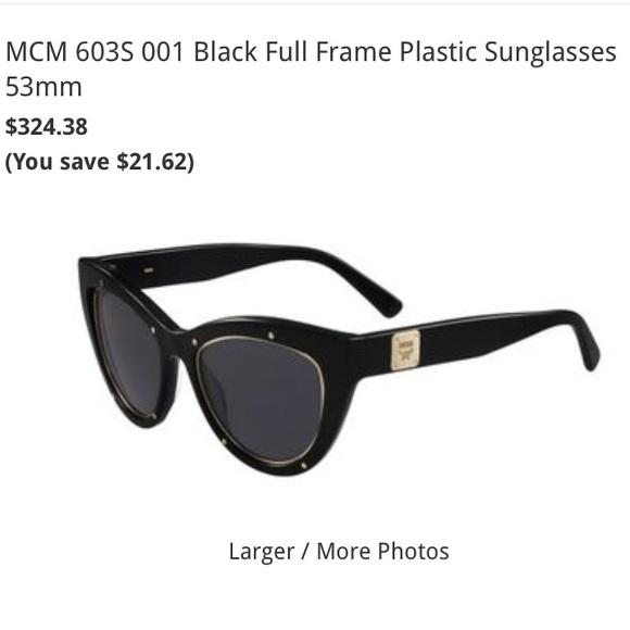 9e4e7ccd1cef MCM Accessories | Brand New Box Cat Eye Black Gold Sunglasses | Poshmark