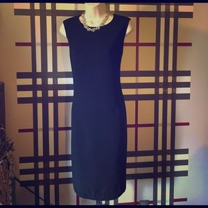 Calvin Klein black suiting sheath dress. Sz 10