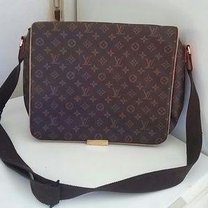 Louis Vuitton Inspired Messenger Bag