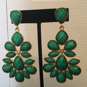 Amrita Singh Jewelry - Green and gold statement earrings