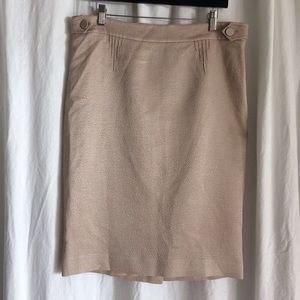 John Galliano Dresses & Skirts - JOHN GALLIANO champagne wool/silk skirt