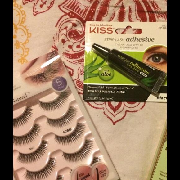Kiss Makeup Eyelash Set Black Eyelash Glue Poshmark