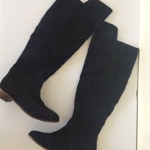 Kelsi Dagger Suede Black Boots 8.5